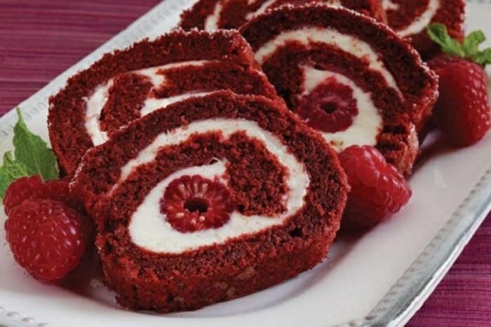rote-lebensmittelfarbe-rezepte-kochem-mit-roter-farbe-ideen-mit-himbeeren-und-andere-suesse-zutaten-schoene-suessigkeiten