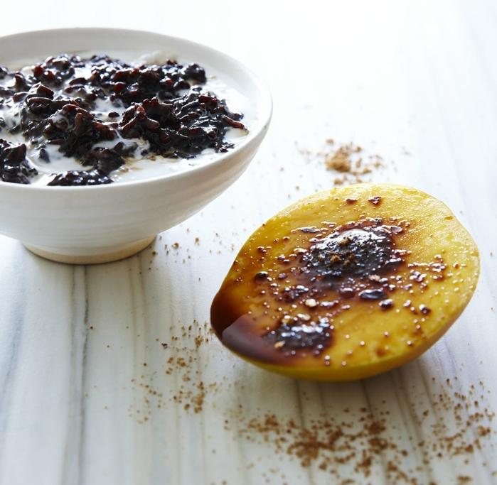 schwarzer reis rezept milchreis süße gerichte kochen und genießen mango gegrillt gebacken zimt