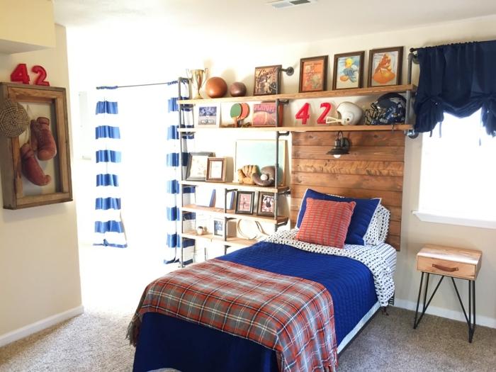 Kinderzimmer Blau Rot nachtkonsole champion rotblau im mbel spot kids shop Kinderzimmer Einrichtung Ideen Einfaches Design Dezent Skandinavischer Lebensstil Deko Holz Blau Rot