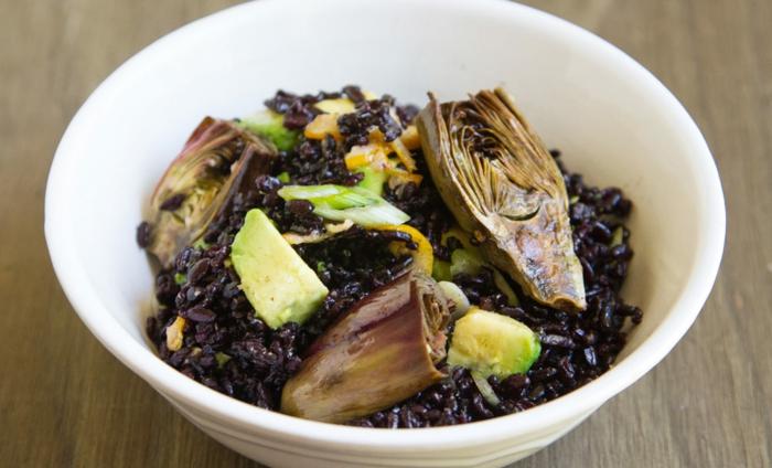 schwarzer reis gesund rezepte zum genießen reis und gemüse gesunde ausgewogene ernährung