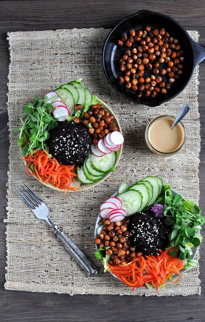 schwarzer reis kochen essen in der mittagspause für zwei gesunde ernährung zu jeder zeit selber kochen