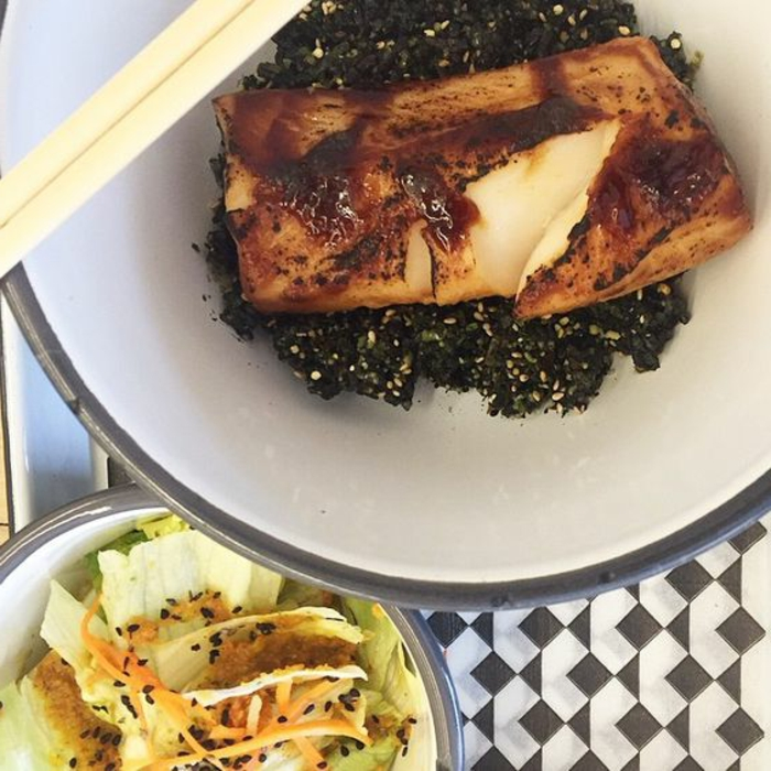 schwarzer reis nährwerte reis mit fisch weiße fisch fillet beilage salat grünsalat eisberg samen mähren