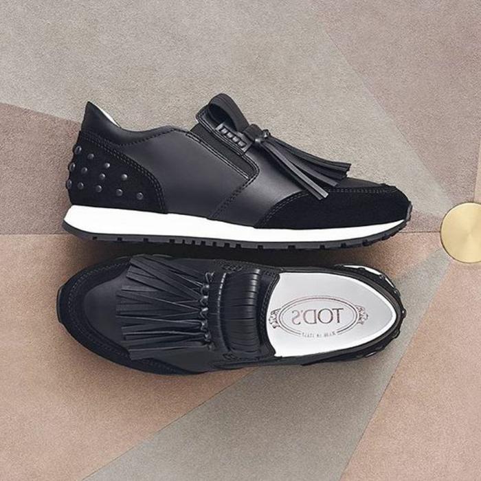 dresscode sportlich elegant schuhe in schwarzer farbe elegante turnschuhe für die freizeit