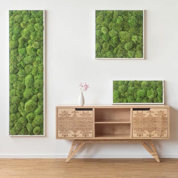 1001 ideen zum thema moosbilder selber machen. Black Bedroom Furniture Sets. Home Design Ideas