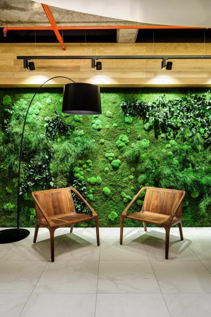 vertikale Bepflanzung mit Moos - die neuste Gestaltungsidee