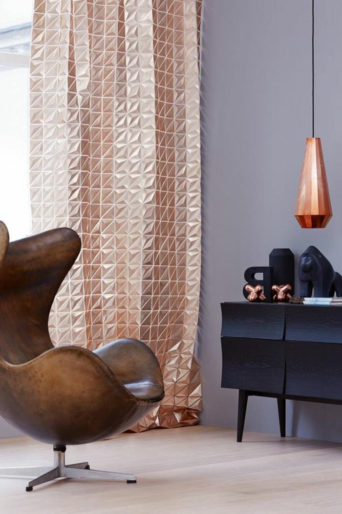 Interessante Moderne Vorhange In Gold Fur Eine Kreative Fenstergestaltung