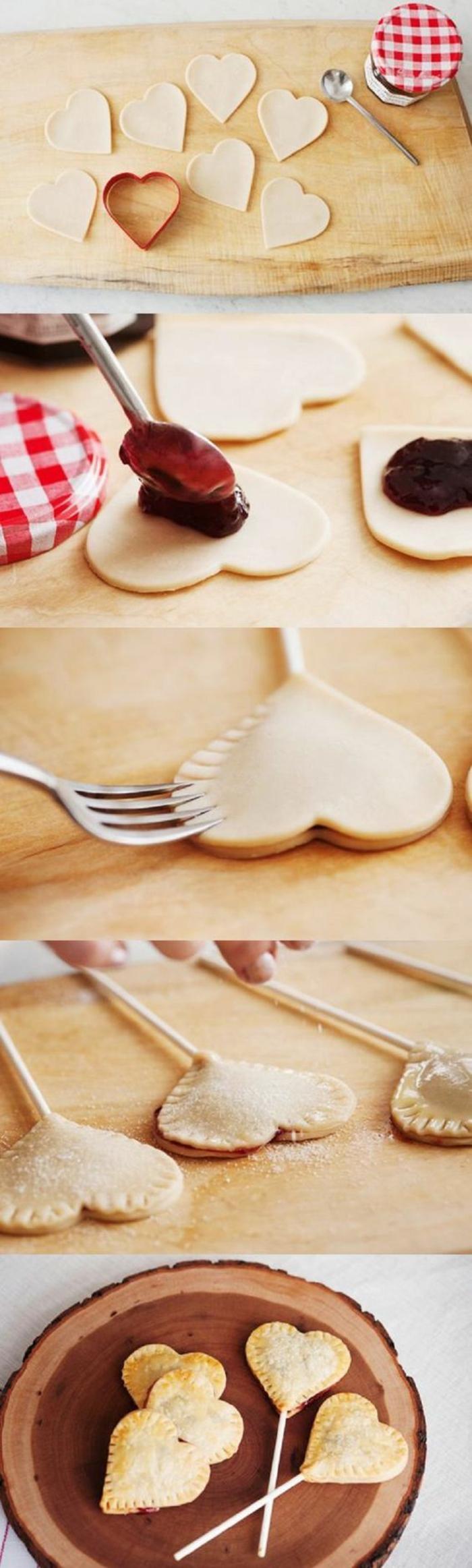 cake pops rezepte, herzen aus teig und schokolade selber machen