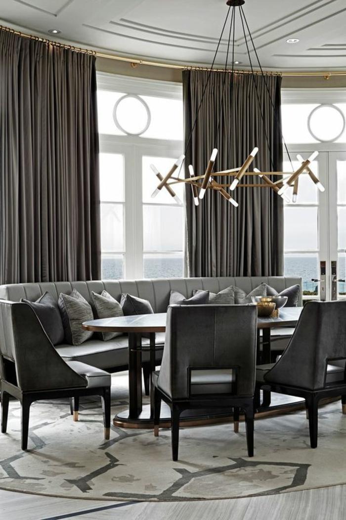 moderne vorhänge in grau für das wohnzimmer