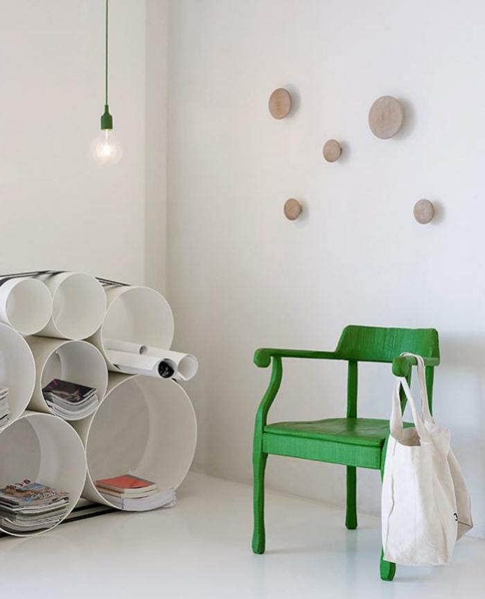Textilkabel Lampe eine frei hängende Fassungen grüne Farbe