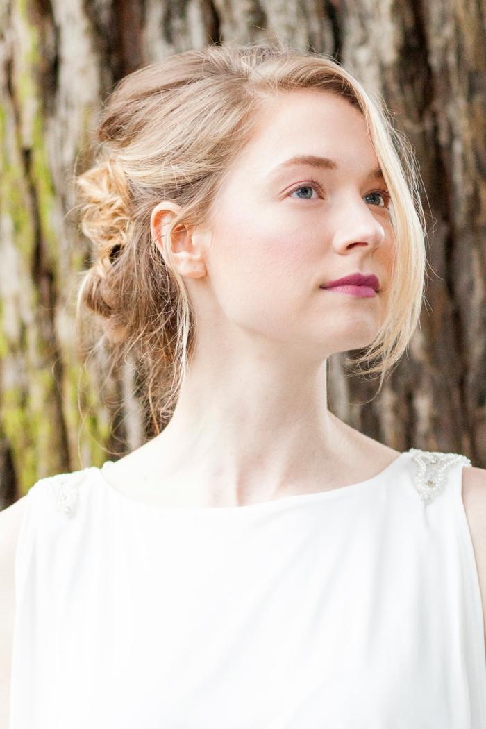natürliches augen make up ideen für braute braut make up dunkle farbe für lippenstift blonde haare