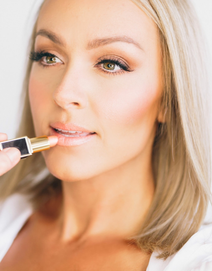 natürliches augen make up schminke ideen blonde haare helle nuancen und farben des makeups