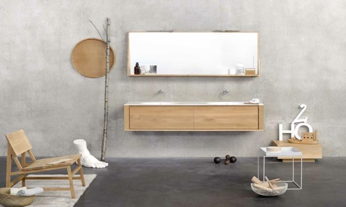 badmöbel aus holz ideen schrank spiegel regale baddeko wasser handtücher