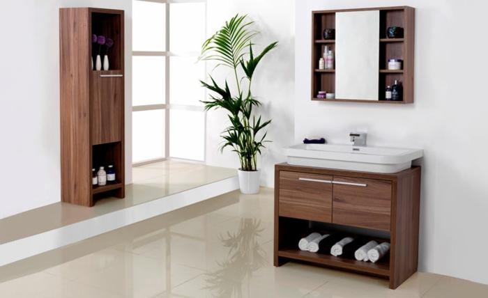 blume im bad moderne hölzerne einrichtung im bad ideen dekoration baddeko
