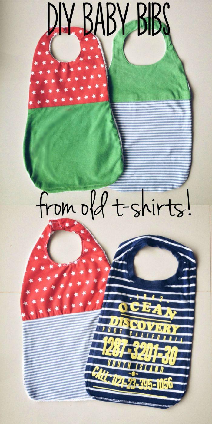 aus alt mach neu, alte kleidung zu baby bibs machen, tolle idee zum wiederverwerten
