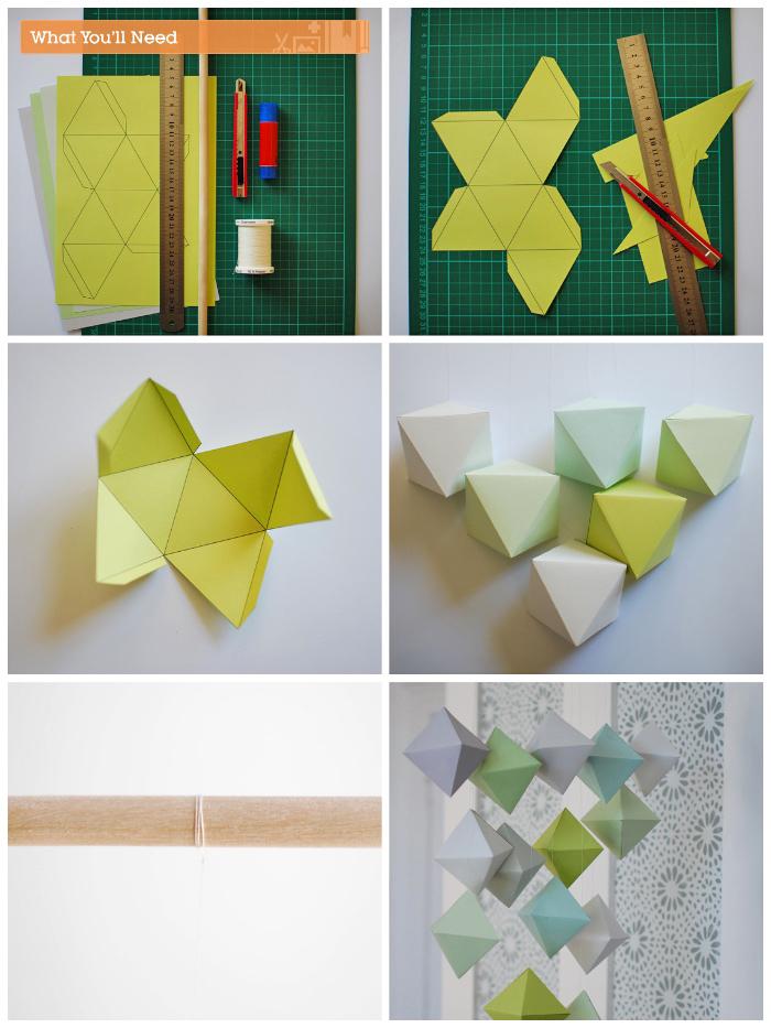 3d figuren aus bastelkarton machen, schritt für schritt, basteln mit papier anleitung kostenlos