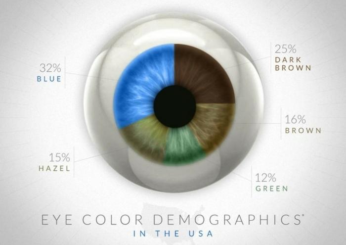 welche augenfarben existieren in den usa prozentanteil der menschen mit verschiedenen augenfarben