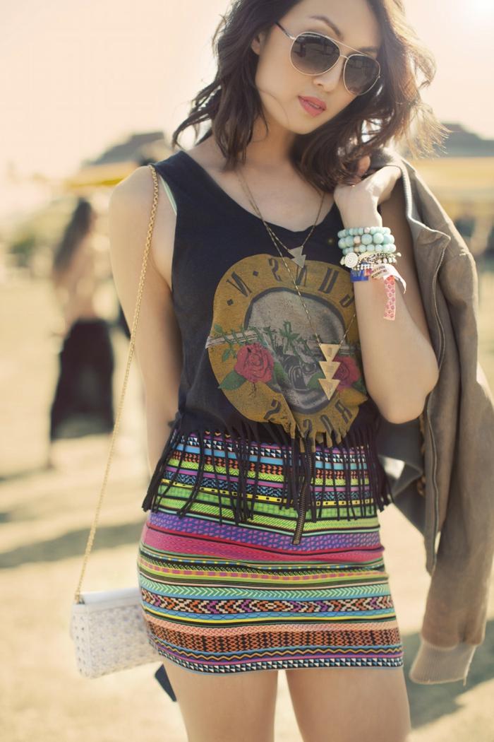 coachella mode verschiedene mode stilen vermischen und das endeffekt genießen rock und t-shirt
