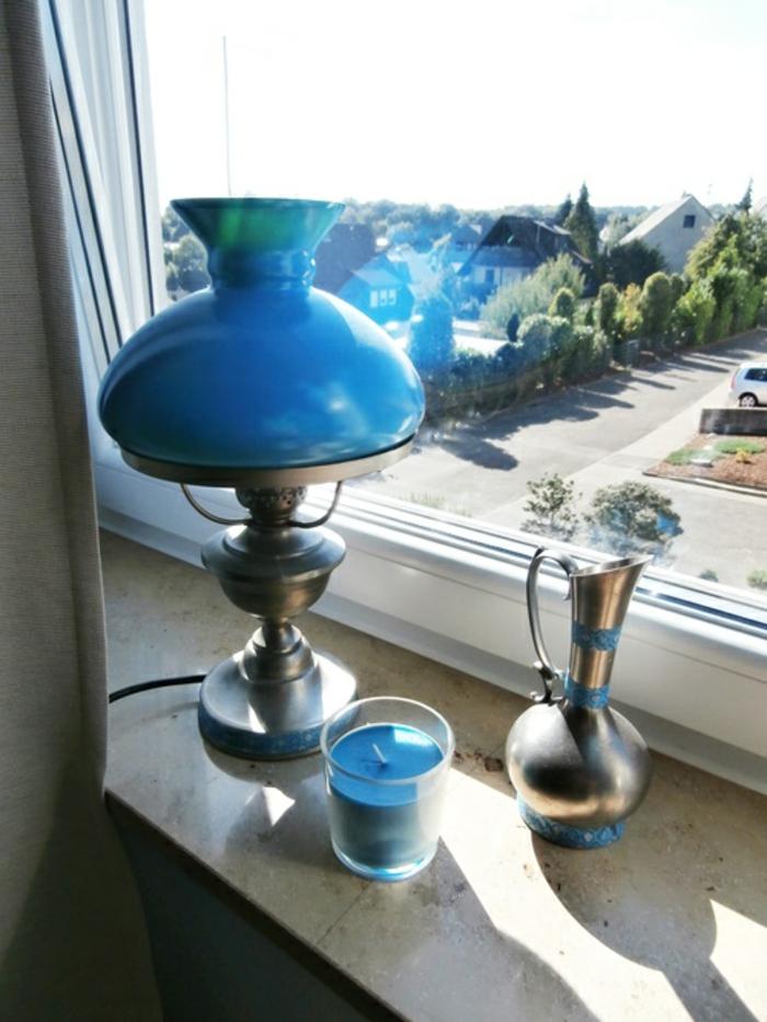 stilvolle Gestaltung Fensterbrett Tischlampen Fensterbank