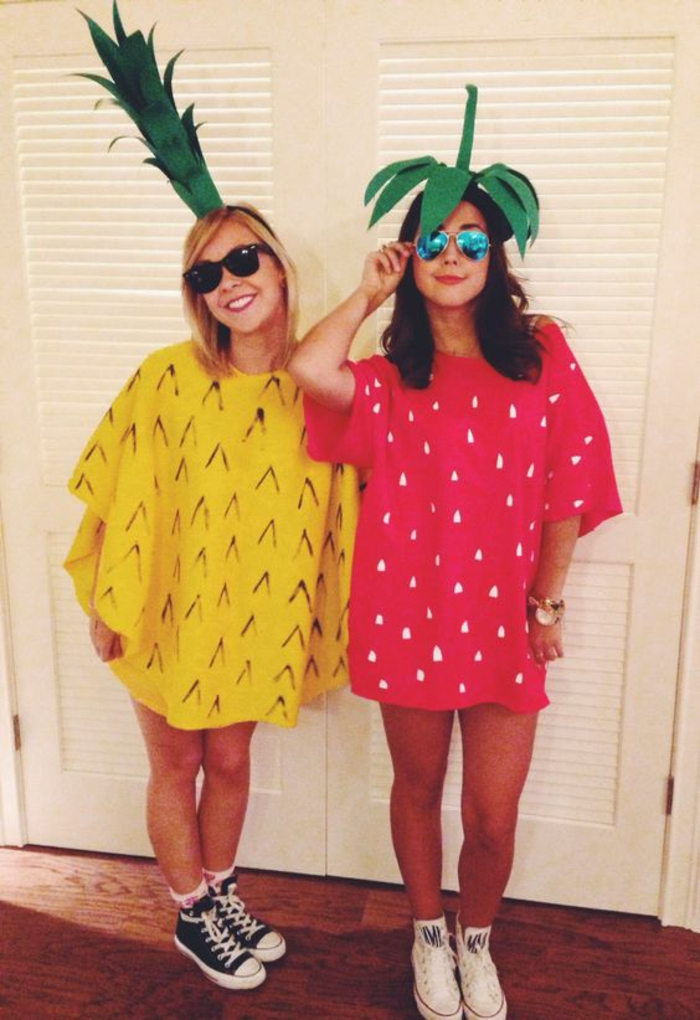 Ideen für Kostüme für beste Freundinnen - zwei Früchte