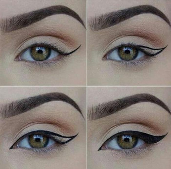 DIY Schminke, schwarzer Eyeliner - Kokosöl, Aktivkohle, Aloe Vera Gel, wie trage ich Eyeliner auf