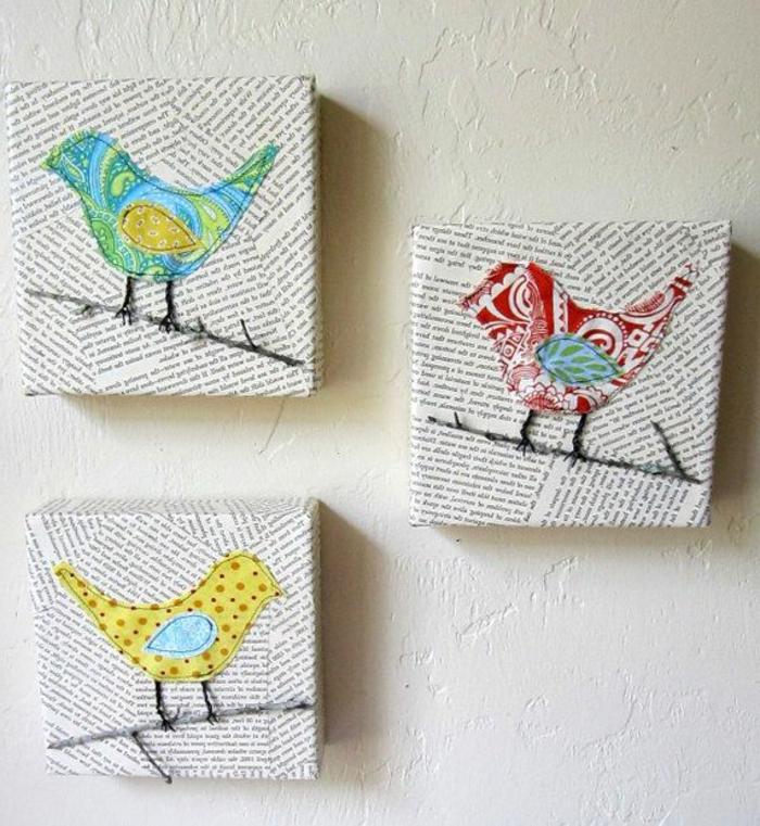 drei ideen für serviettenrechnik - drei kleine vögel und äste