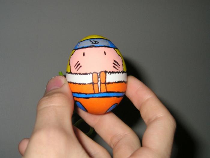 Ostereier Gesichter - ein Held aus Anime Naruto selber bemalen - sehr witzig