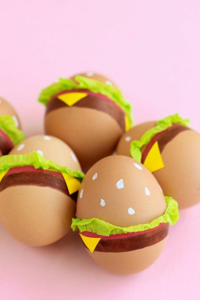 Eier lustig - haben Sie Hunger auf Hamburgers, aber sie bekommen doch gekochte Eier