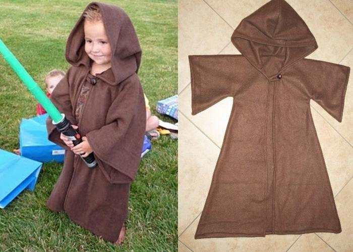 originelle Kostüme zum Selber machen von Jedi für einen kleinen Junge