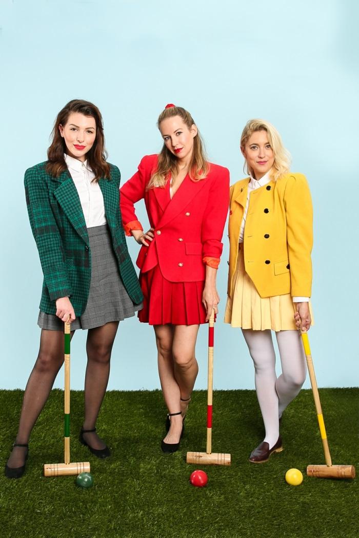 drei elegant verkleidete Frauen - prima Gruppenkostüme Idee für Damen