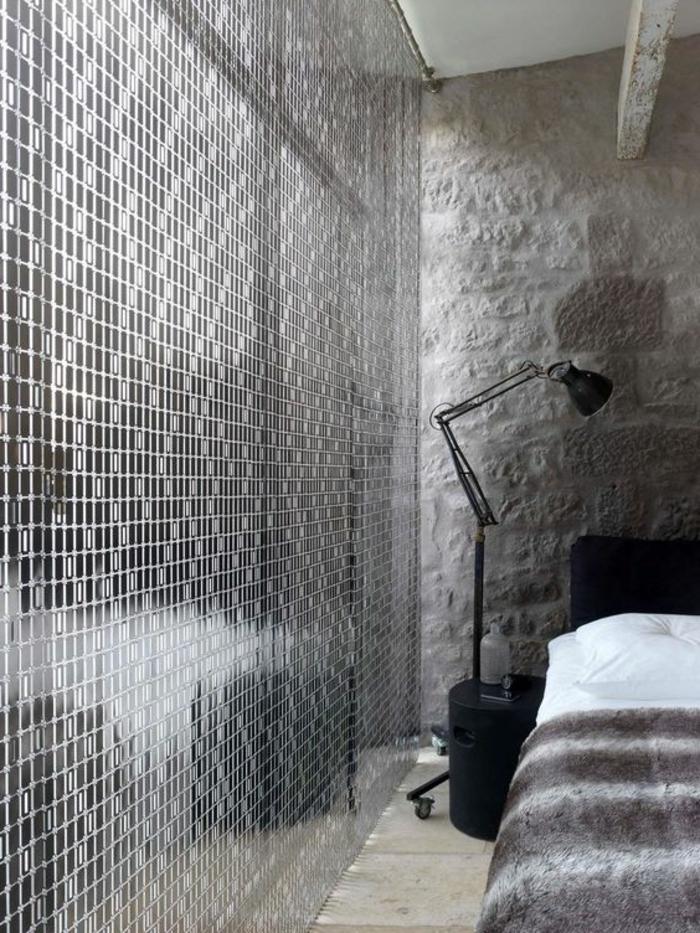 super moderner vorhang aus metall für das schlafzimmer