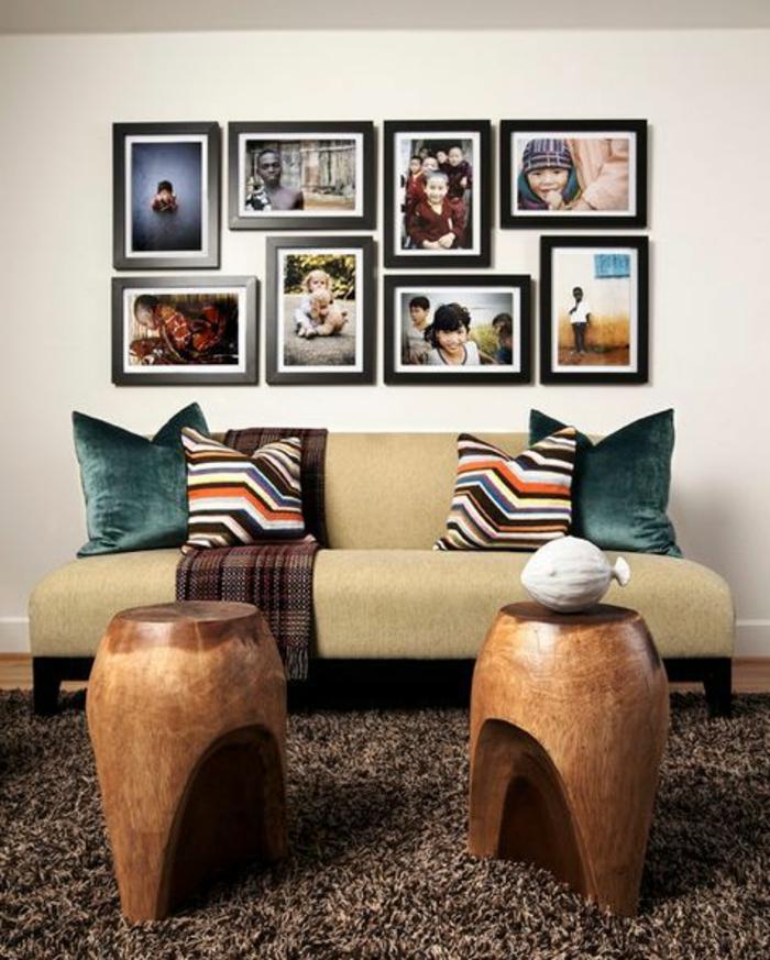 Fotocollage aus Bildern in unterschiedlichen Größe