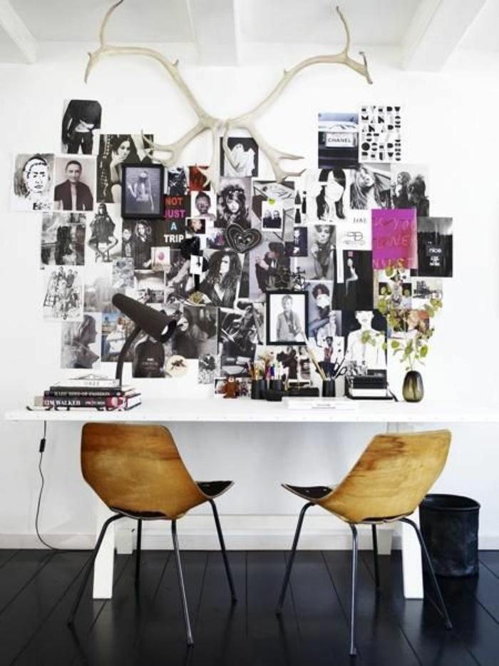 coole Idee für Bilderwand mit vielen Fotos