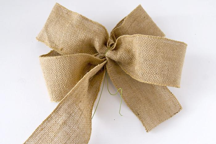 schleife aus leinen binden, grüner, faden, geschenkschleife