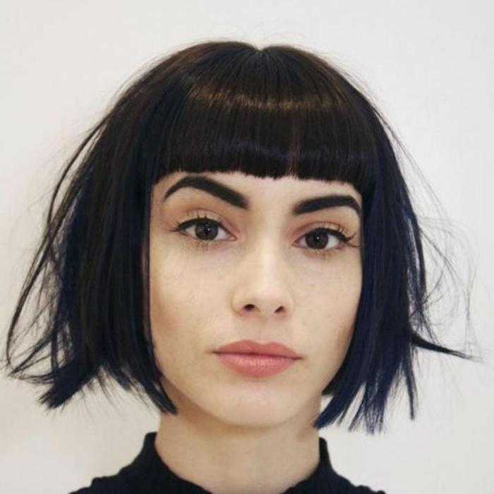 lässig gestylte Bob Frisur für mittellanges Haar