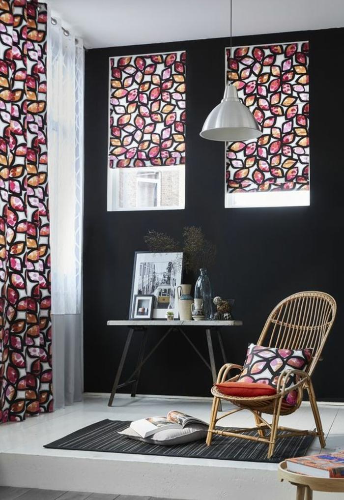 farbakzente mit vorhängen und dekokissen in den gleichen farben setzen