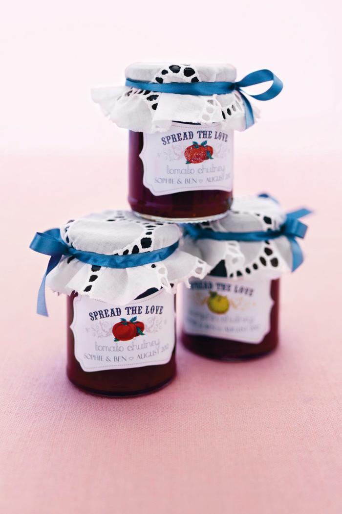 hochzeit, geschenke, gaeste, marmelade, baendchen, etikett, diy, selber machen