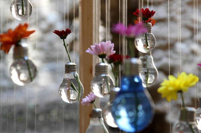diy vasen aus birnen, blumen, hängende dekoration