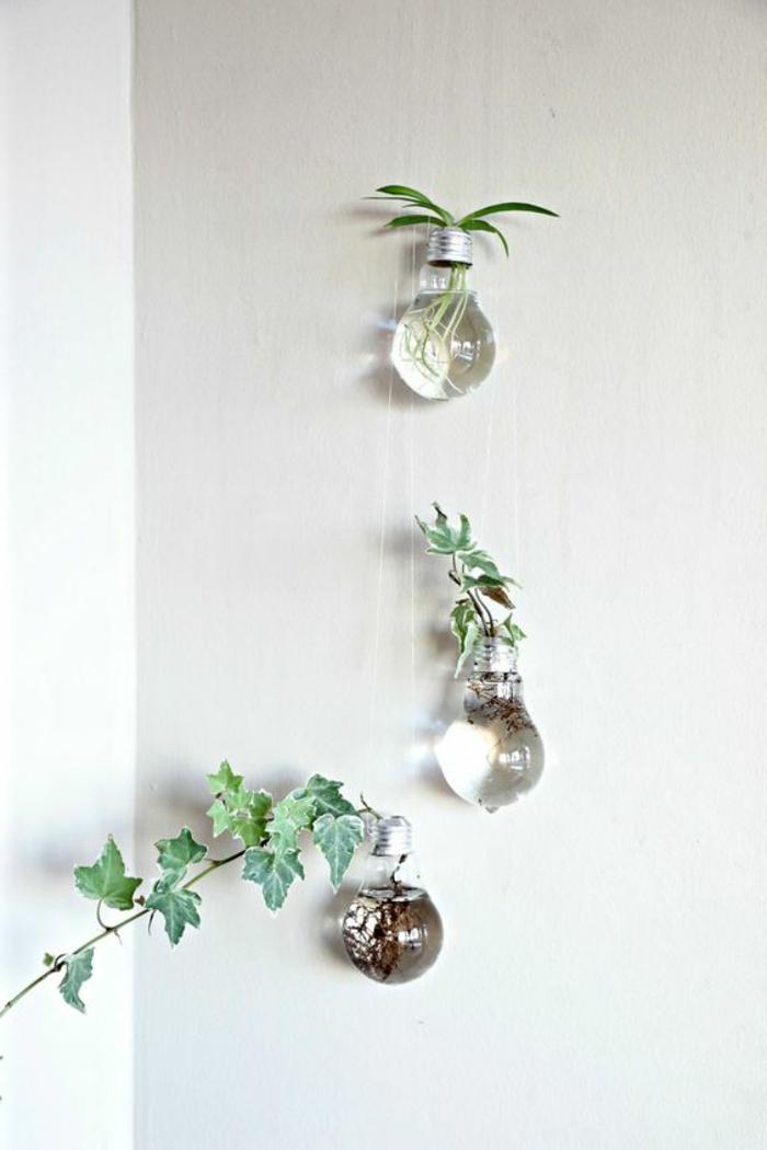 händende diy vasen aus birnen. zweig, pflanzen
