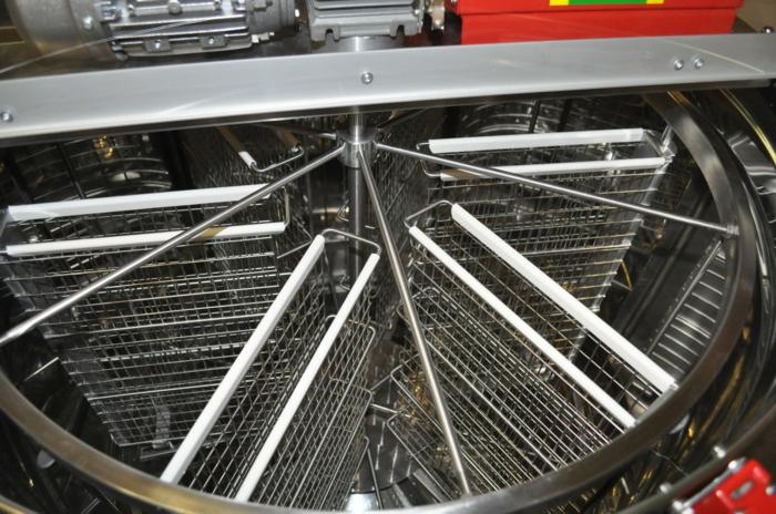 Moderne Honigschleuder aus Stahl, Warenkorb für Waben