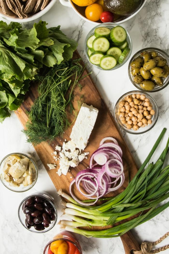 hummus selber machen zubereitung von hummus ideen salat grünsalat zwiebel
