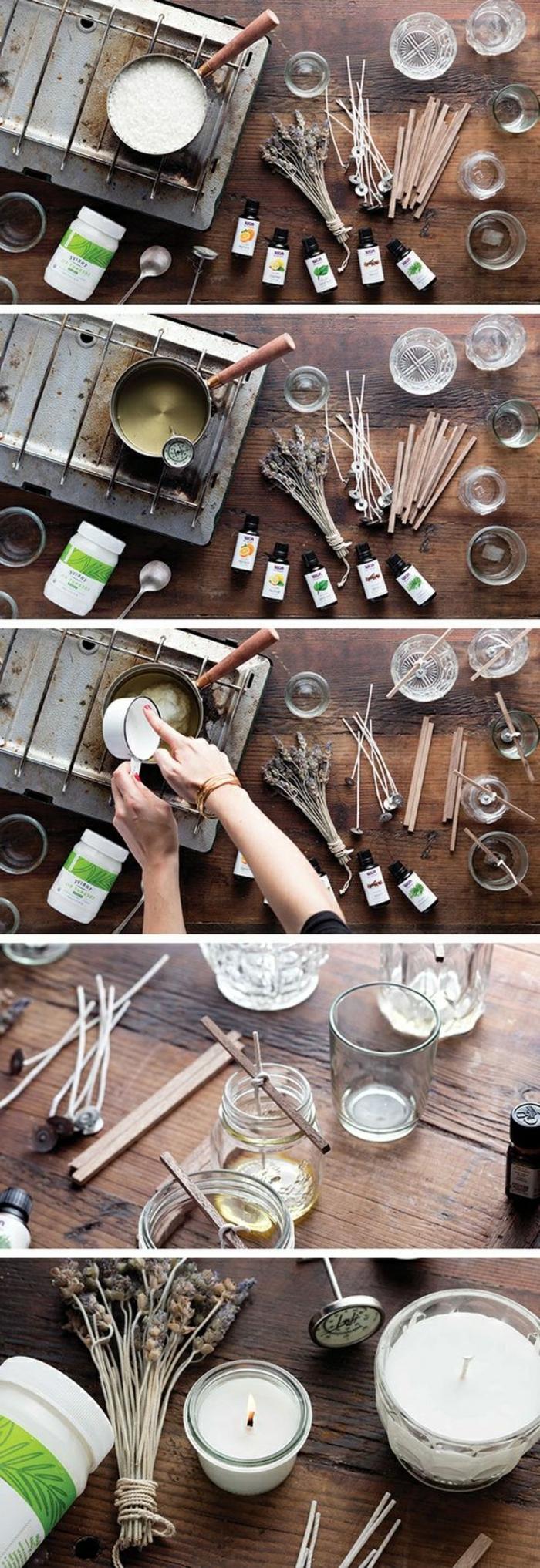 duftkerzen selber machen, weiße, runde diy kerze