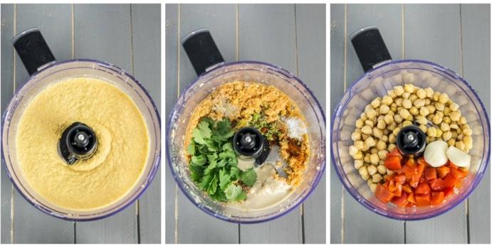 kichererbsen gesunde idee zu hause selber kochen exotische speise mit paprika petersilie
