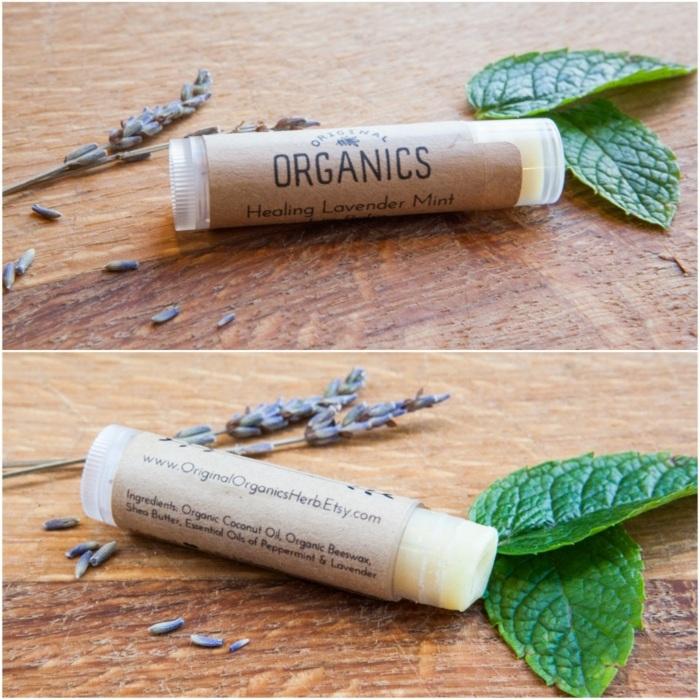 lippenpflegestift selber machen mit pfefferminze, diy balsame