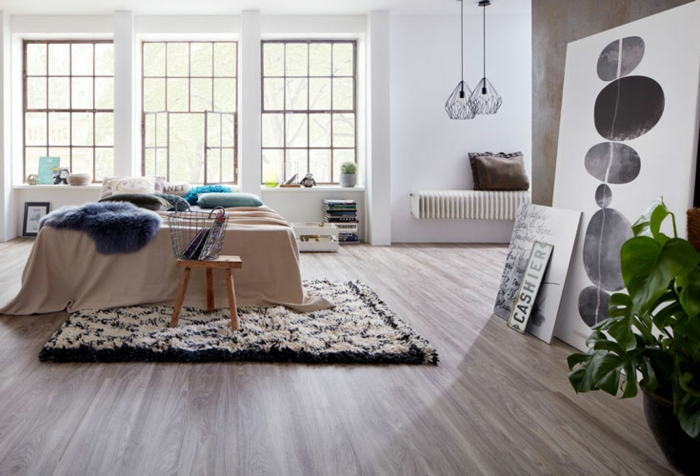 Laminate - the modern alternative for a shiny house