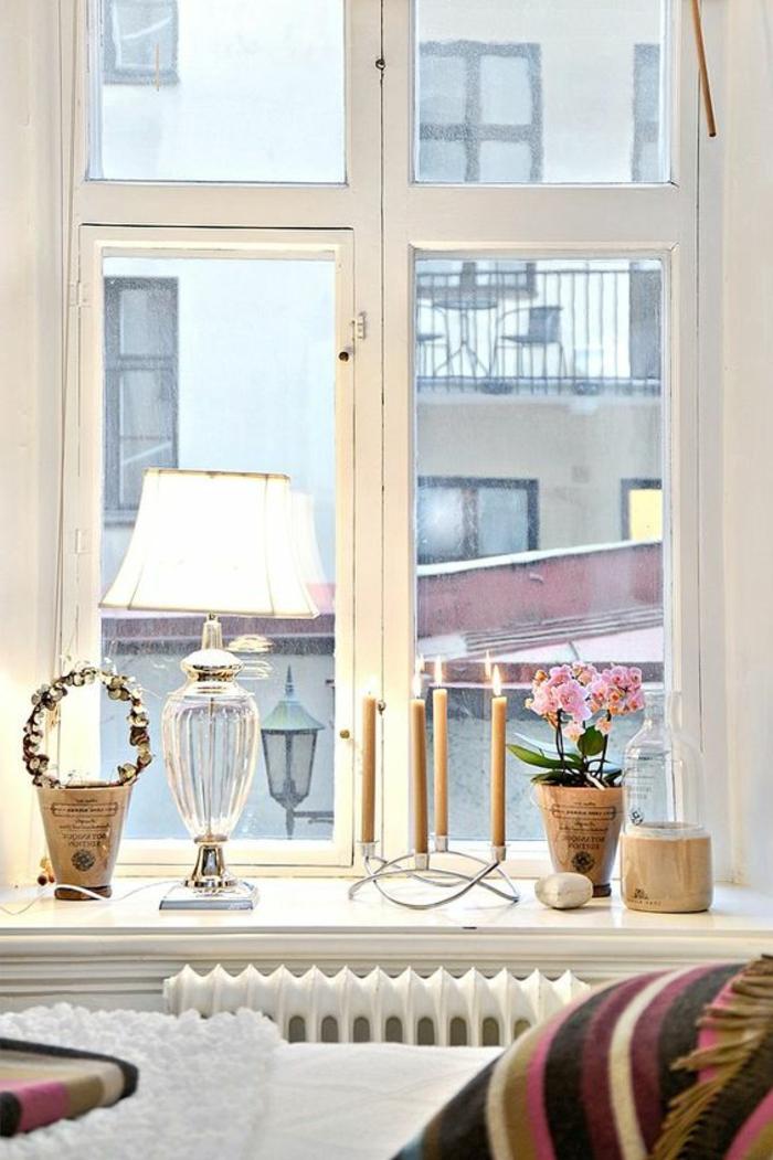 Landhaus Dekotipps Fensterbank Lampen Leuchten und Kerzen