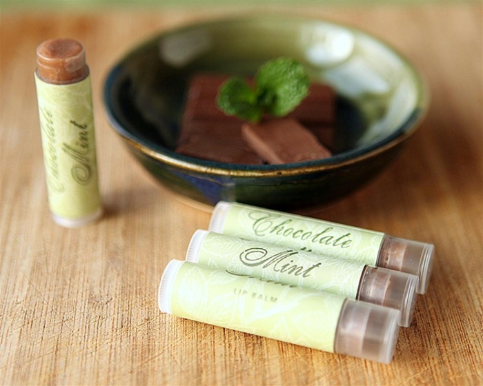 lippenpfelestift selber machen mit pfefferminze und schokolade