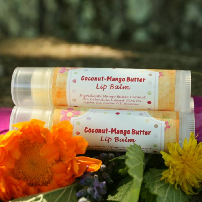 lippenpflegestift selber machen, acker-ringelblume, mango