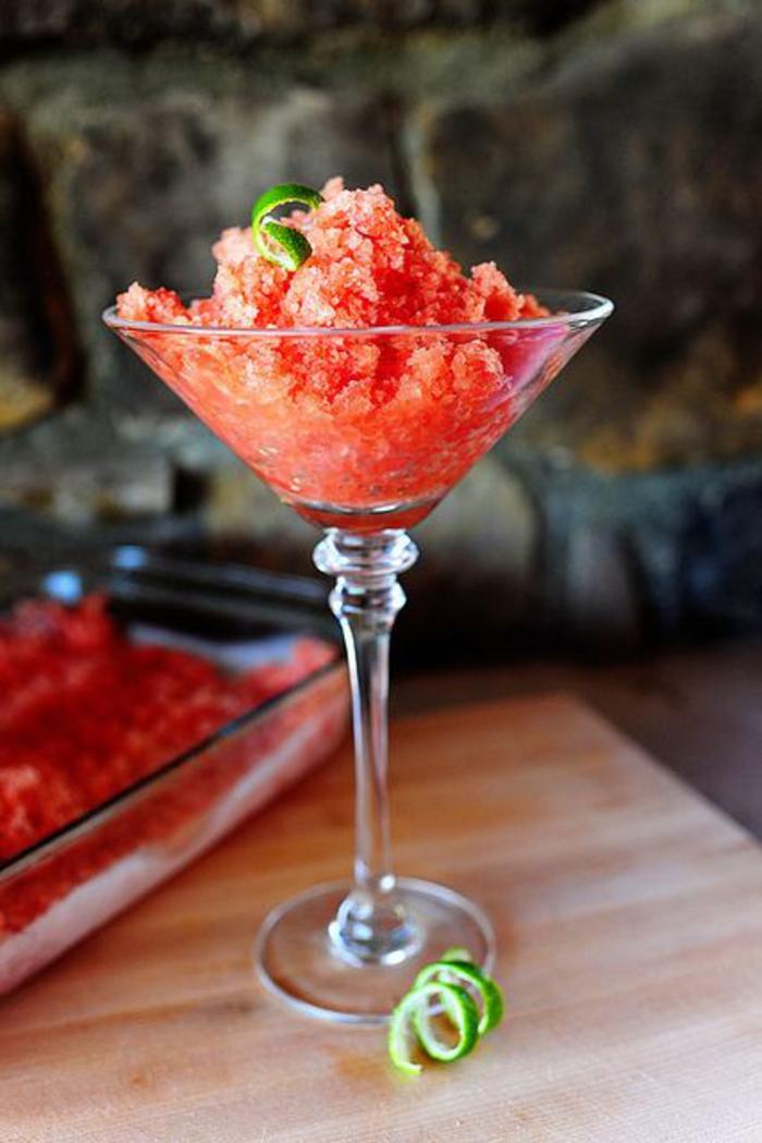 Melonen-Granita, Sommer, Party, Dessert