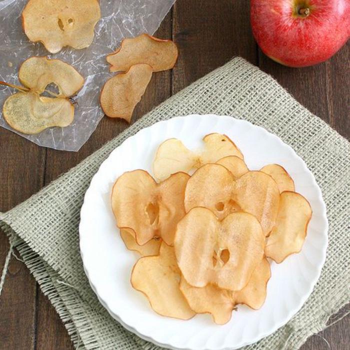Karamellisierte Äpfel, Honig, Obst, Dessert