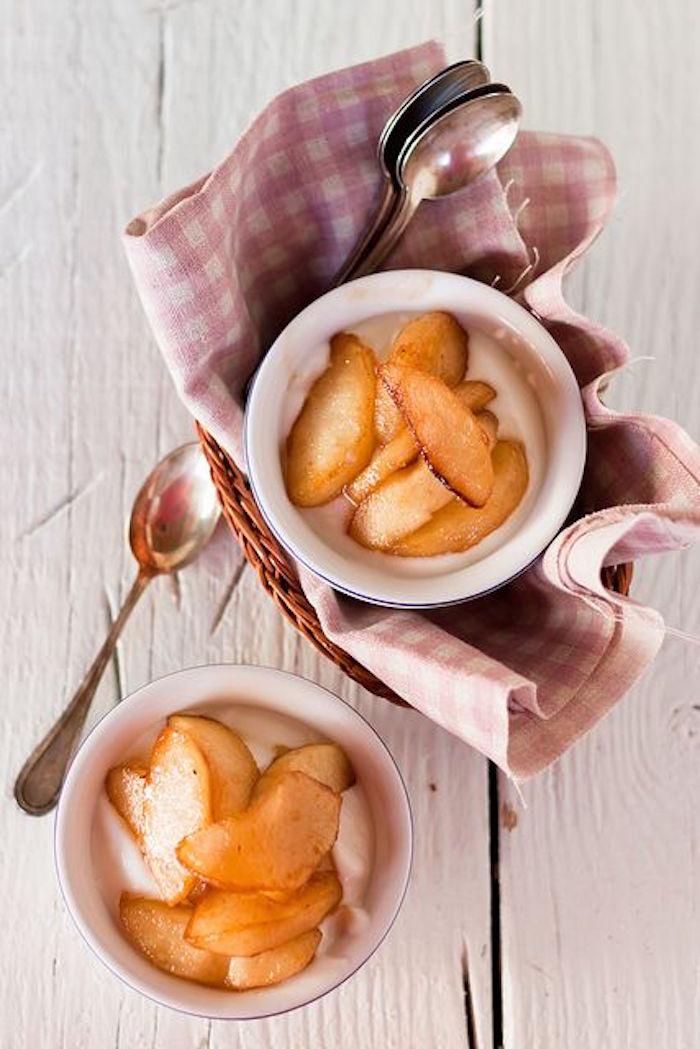 Karamellisierte Äpfel, schnell, lecker, Dessert